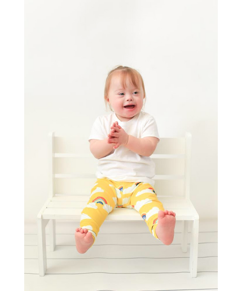 Little Loves Cornwall Lemon Rainbows Leggings
