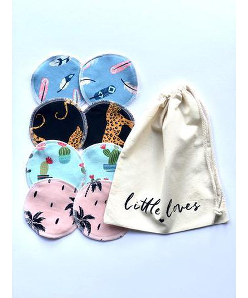 Little Loves Cornwall Reusable Breast Pads x 8