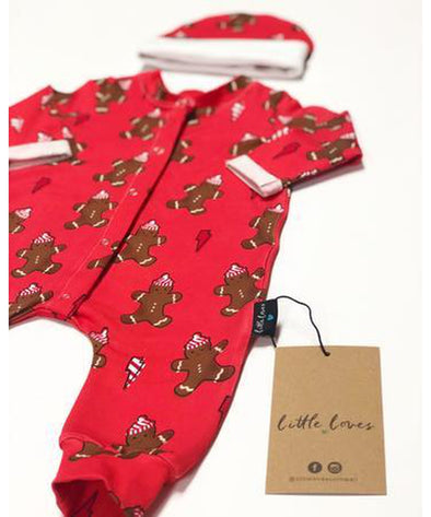 Little Loves Cornwall Gingerbread Sleepsuit