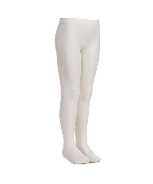 Country Kids Microfibre Ivory Opaque Tights