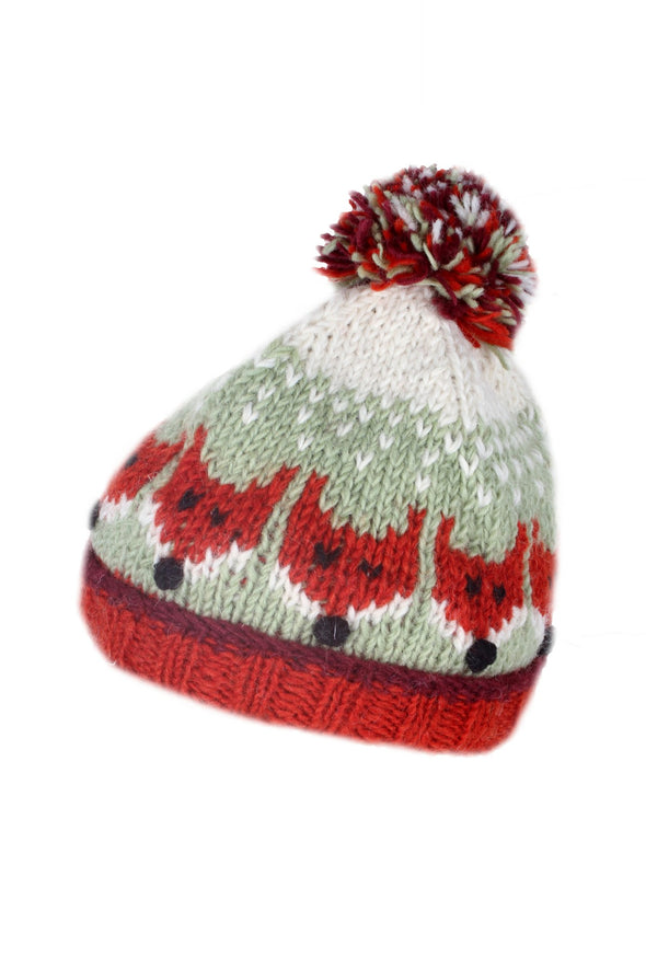 Pachamama Kids Animal Bobble Hat Fox