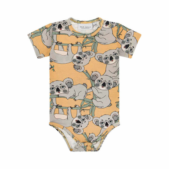 Dear Sophie Koala Yellow Short Sleeved Bodysuit