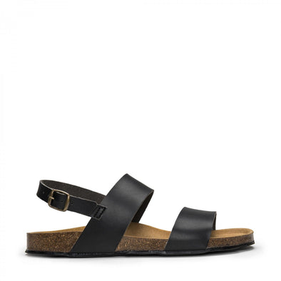 Nae Zander Three Strap Sandals- Black