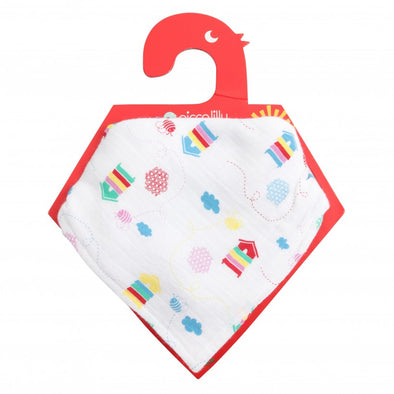 Piccalilly Beehive Reversible Muslin Bib & Burp Cloth