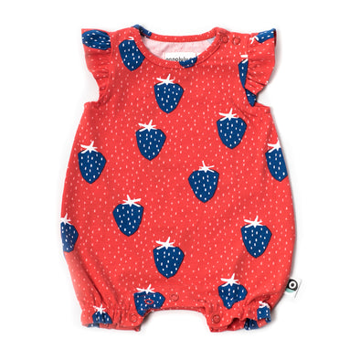 Onnolulu Strawberry Zita Short Romper