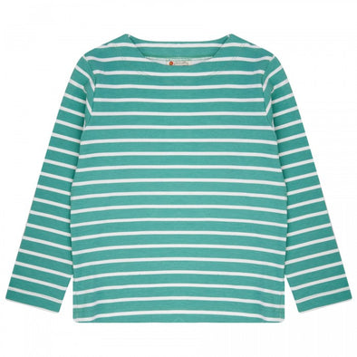 Piccalilly Aqua Green Building Block Long Sleeved Top