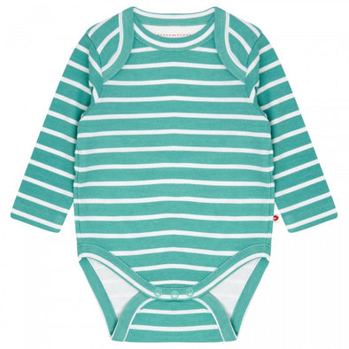 Piccalilly Aqua Green Building Block Bodysuit