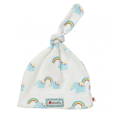 Piccalilly Rainbow Elephant Knotted Baby Hat
