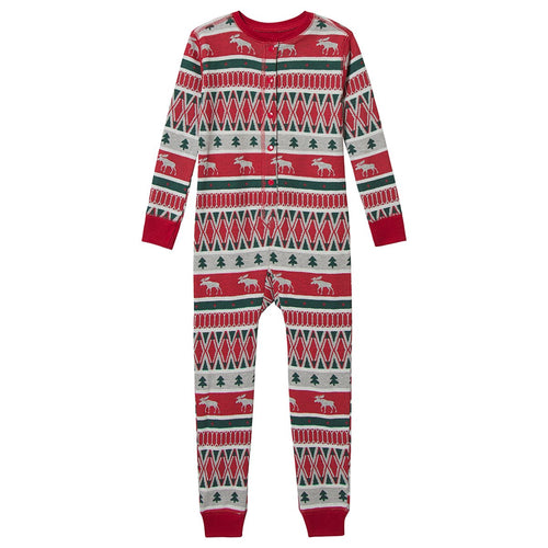 Hatley Winter Fair Isle Organic Cotton Onesie