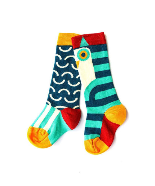 Merle Kids Owl Knee High Socks - 2 pair pack