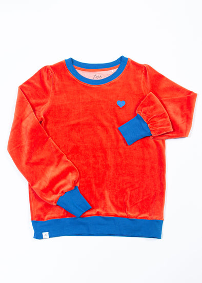 Alba All I Adore Adult Sweatshirt for a Cosy Day - Spicy Orange