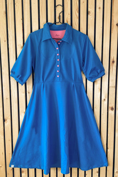 Alba All I Adore Adult My Vintage Summer Dress Blue Sapphire