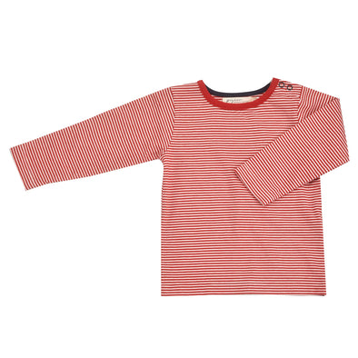 Pigeon Organics Red Fine Stripe Long Sleeved Top