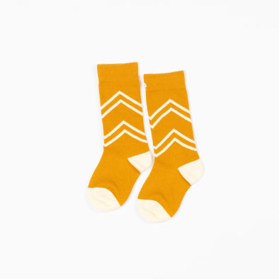 Alba Annie Knee Socks Bright Gold / White