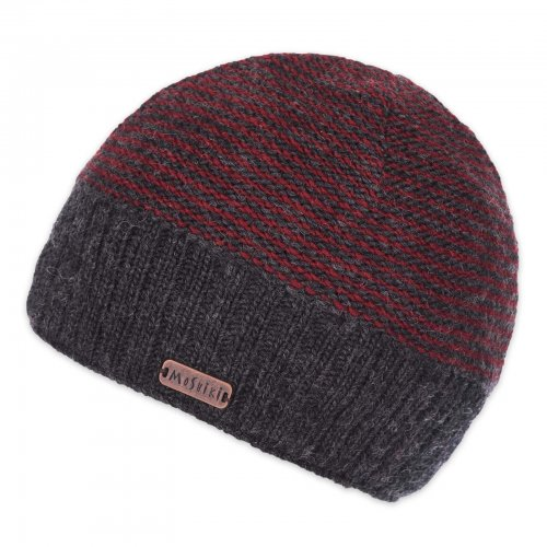 Moshiki Pabil Floppy Beanie Charcoal Red