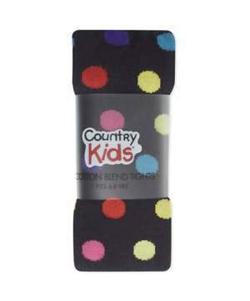 Country Kids Multi Dot Navy Tights