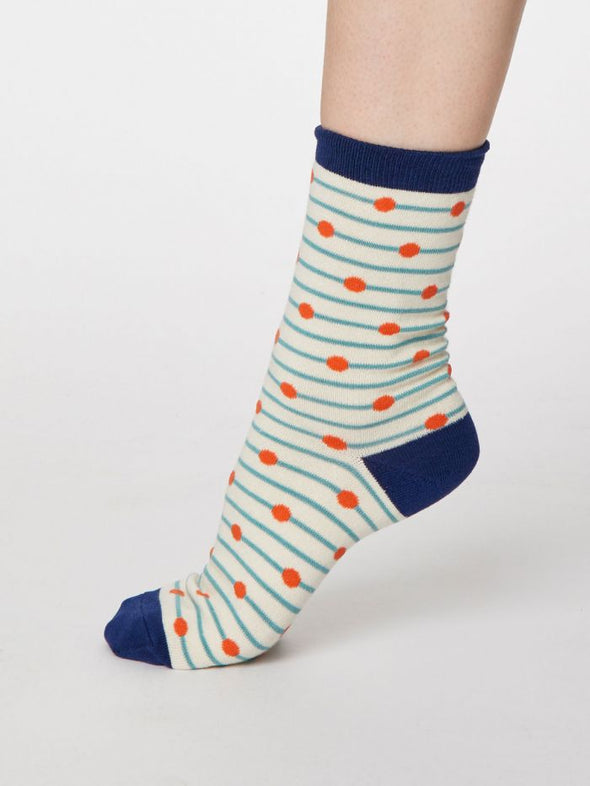 Thought Hope Spot Socks - Cream
