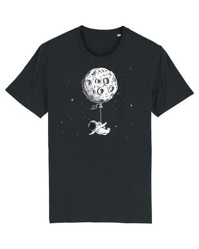 Wat? Apparel Men's Funny Astronaut T-Shirt Black