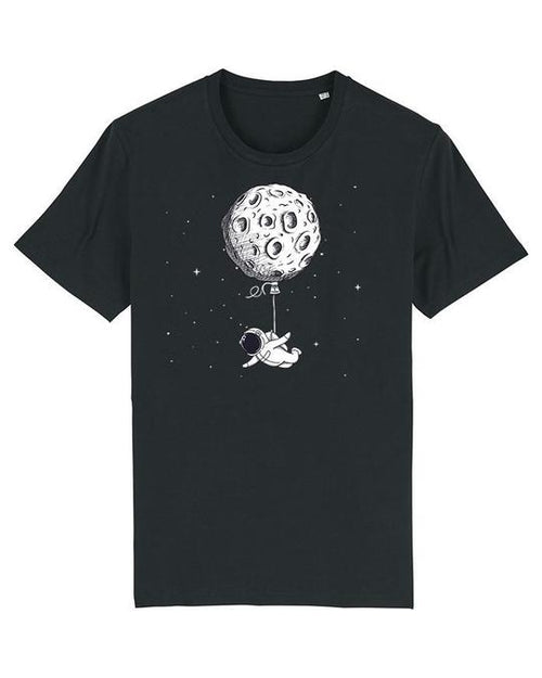Wat? Apparel Men's Funny Spaceman T-Shirt Black