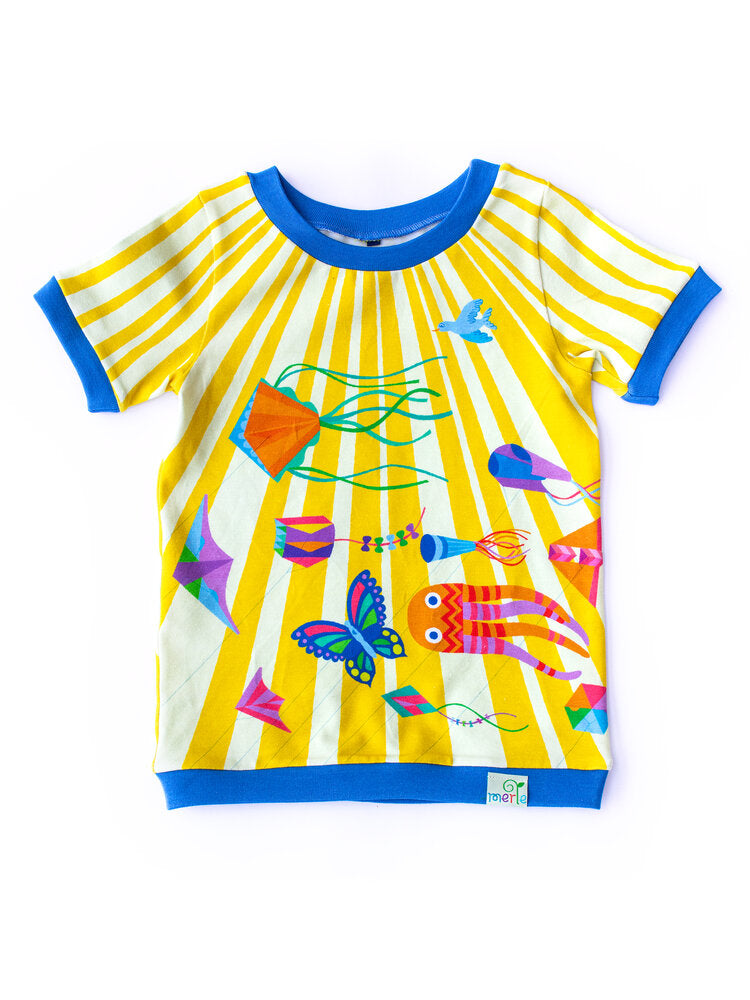 Merle Kids Kites In The Sky T-Shirt