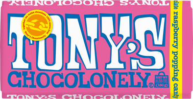 Tony's Chocolonely White Raspberry Popping Candy 28% 180g
