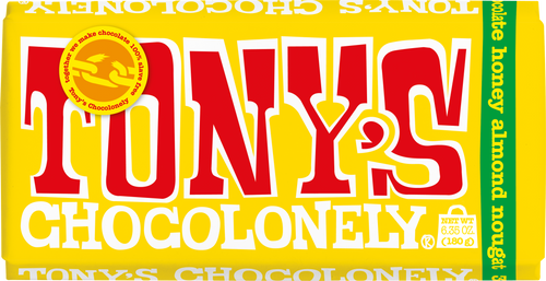 Tony's Chocolonely Almond Honey Nougat Milk Chocolate 180g