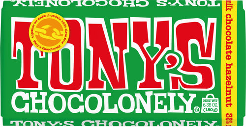 Tony's Chocolonely Hazelnut Milk Chocolate 180g