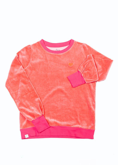 Alba All I Adore Adult Sweatshirt for a Cosy Day - Sunkissed Coral