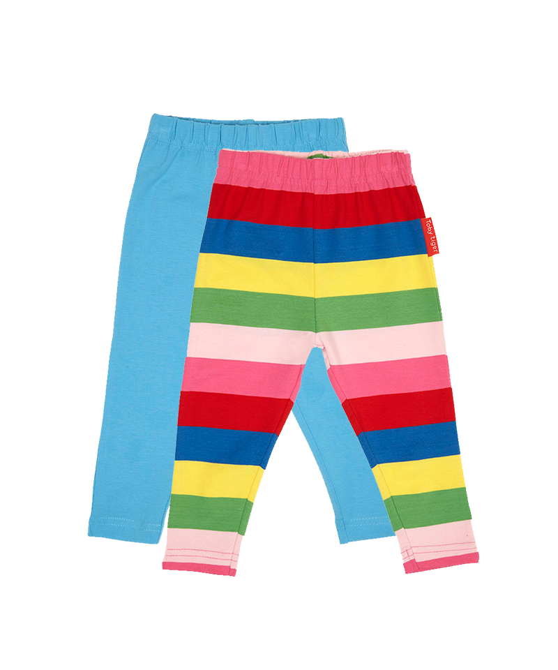Toby Tiger Pink Multi Stripe Leggings Twin Pack