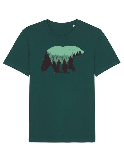 Wat? Apparel Men's Wild Bear T-Shirt Glazed Green
