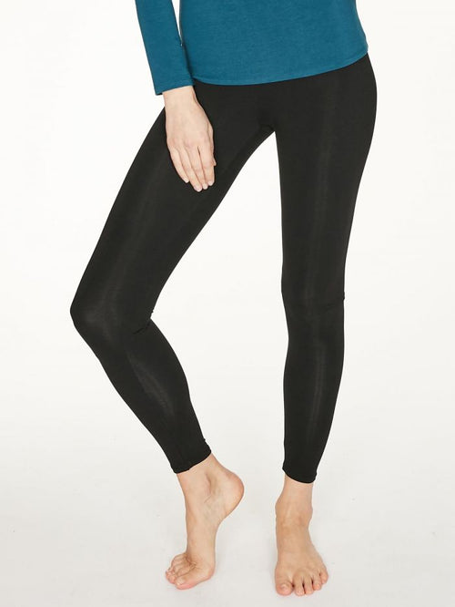 Thought Heavy Bamboo Jersey Leggings - Black WWB4064