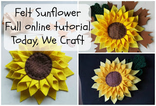 How to make a felt sunflower