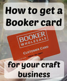 How to get a Booker card for your craft business