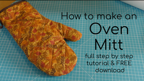 How to make an oven mitt free template