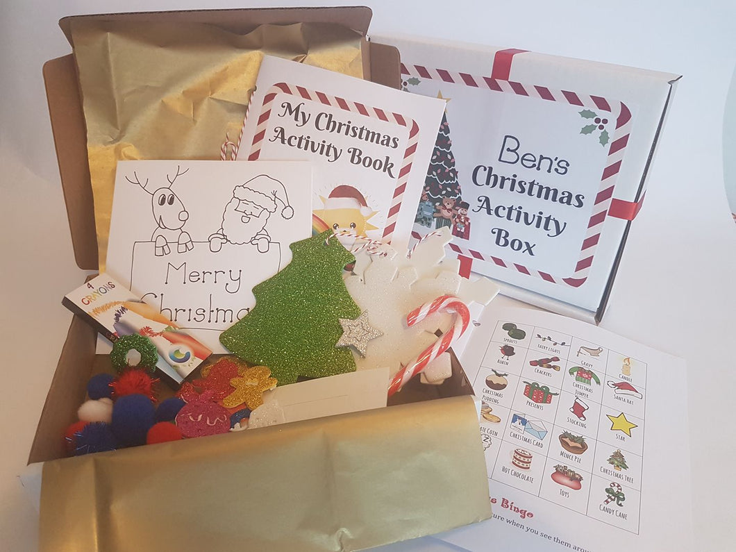 Personalised Children's Christmas Activity Kit