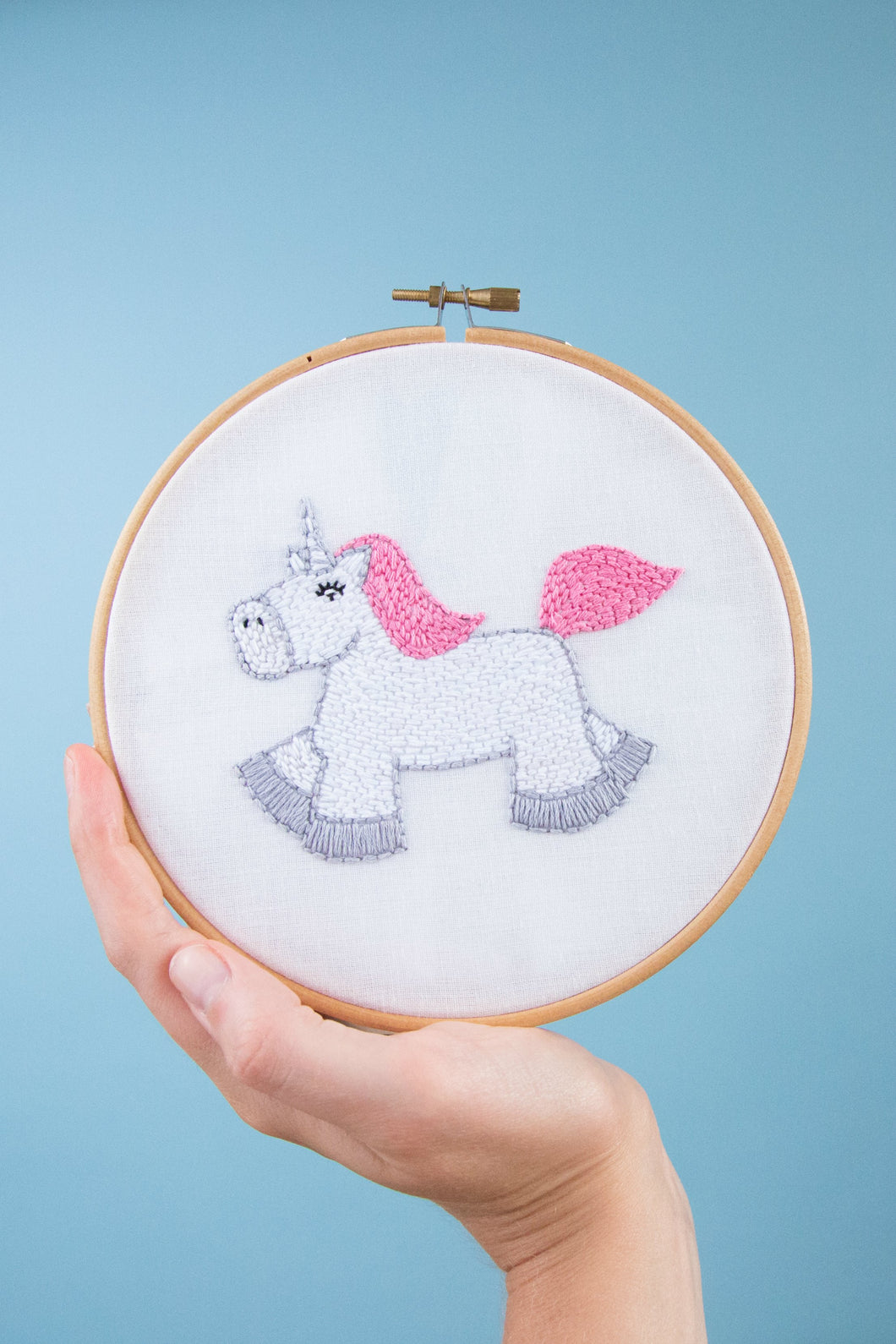 Unicorn Embroidery Hoop Kit