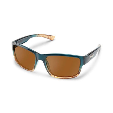 Suncloud Injection Suspect Polarized Brown Sunglasses - Ocean Fade Frame