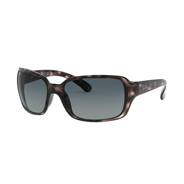 Ray-Ban RB4068 Sunglasses with Tortoise Frame - Blue Gradient Lens