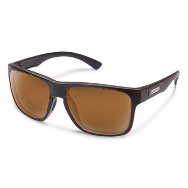 Suncloud Injection Rambler Blackened Tortoise Polarized Brown Sunglasses
