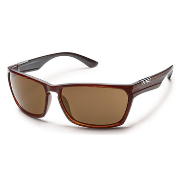 Suncloud Injection Cutout Burnished Brown Polarized Brown Sunglasses