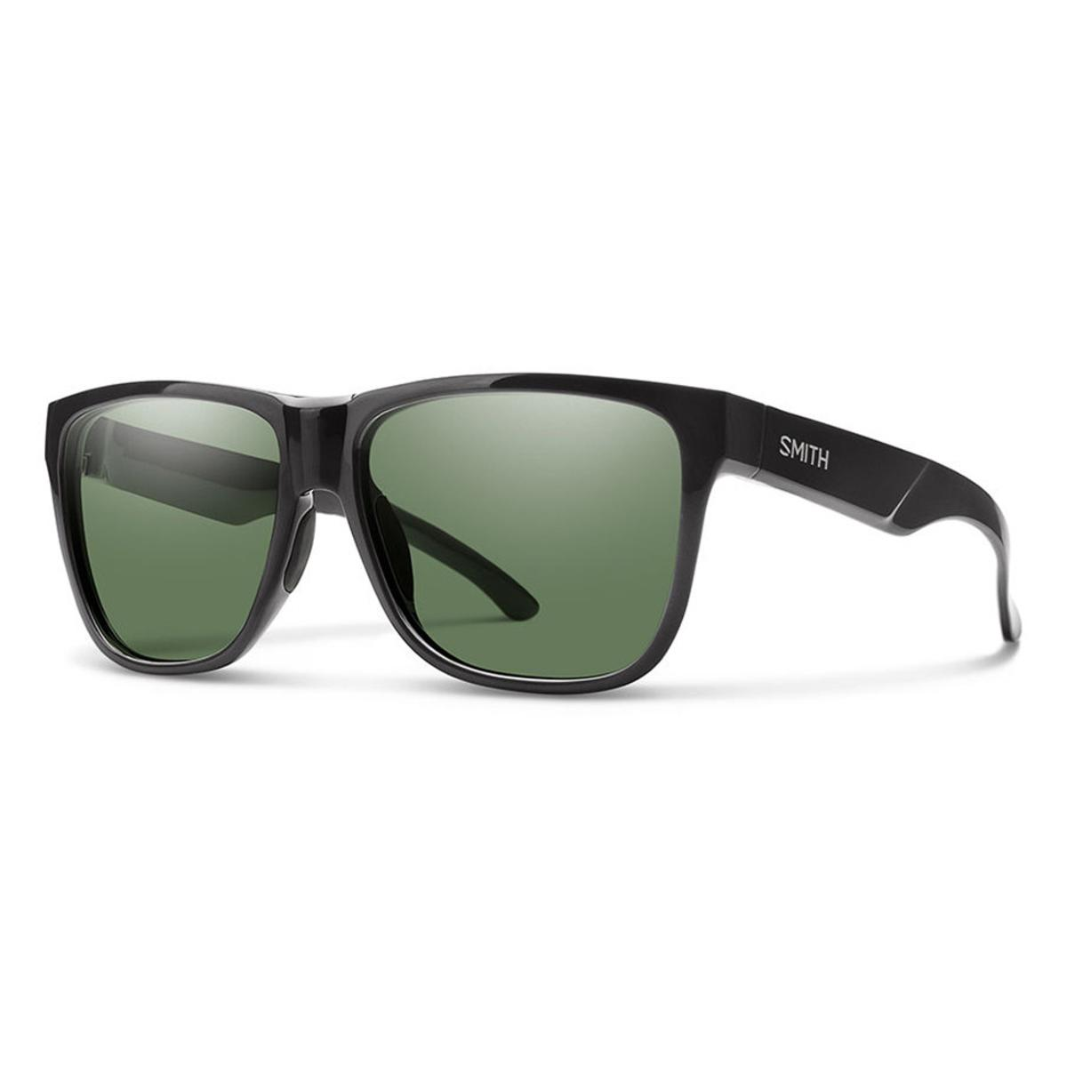 Smith Optics Lowdown XL 2 Sunglasses Carbonic Gray Green - Black Frame
