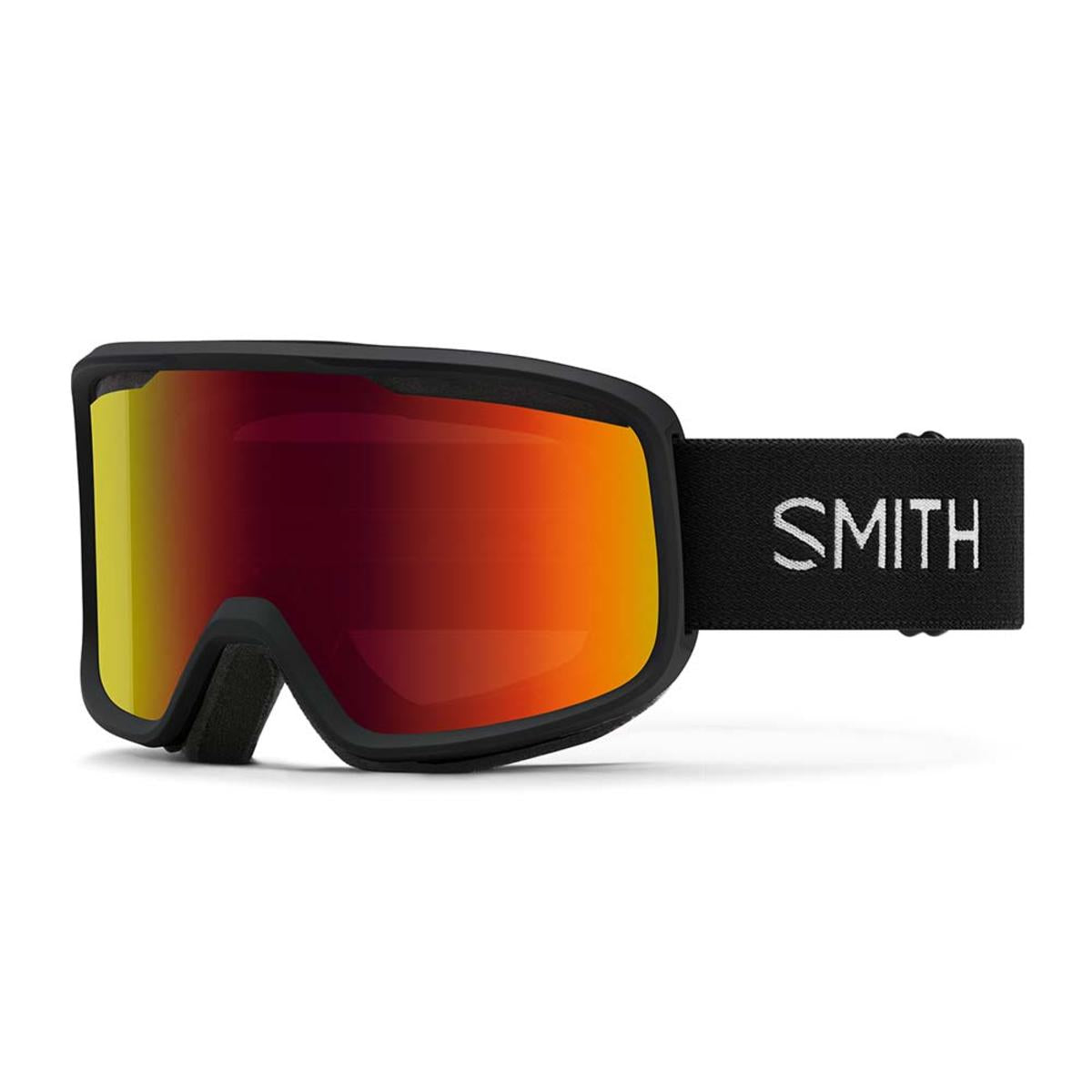 Smith Optics Frontier Goggles Red Sol-X Mirror - Black Frame