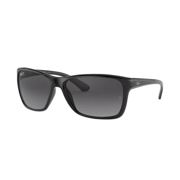 Ray-Ban RB4331 Sunglasses with Black Frame - Polarized Grey Gradient Lens
