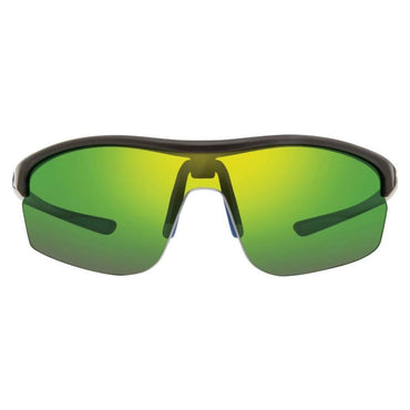 Revo Women's Edge Shield Sunglasses Green Water Lens - Black Frame