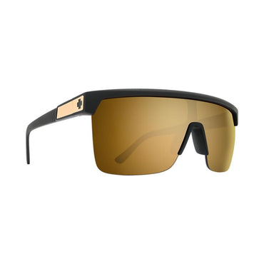 Spy Optic Flynn 5050 25 Anniv Matte Black Gold - HD Plus Bronze with Gold Spectra Mirror