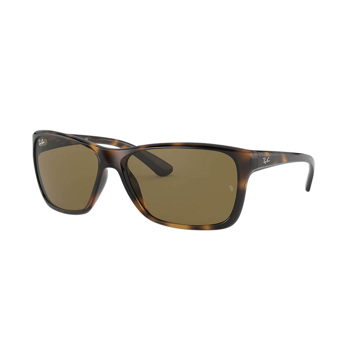Ray-Ban RB4331 Sunglasses with Tortoise Frame - Dark Brown Classic B-15 Lens