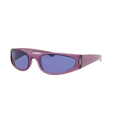 Ray-Ban RB4332 Sunglasses with Transparent Violet Frame - Blue Classic Lens