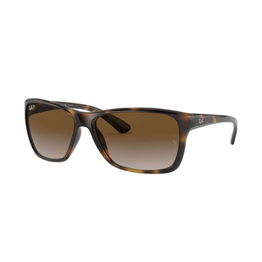 Ray-Ban RB4331 Sunglasses with Tortoise Frame - Polarized Brown Gradient Lens
