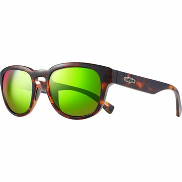 Revo Unisex Zinger Modified Wayfarer Sunglasses Green Water Lens with Matte Tortoise Frame