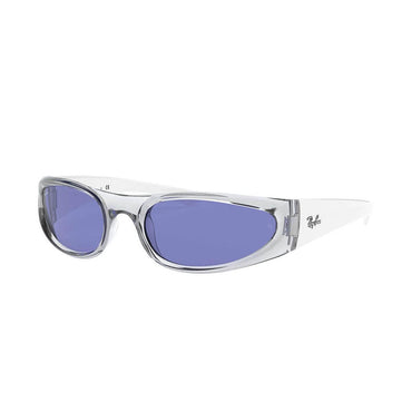 Ray-Ban RB4332 Sunglasses with Transparent White Frame - Blue Classic Lens